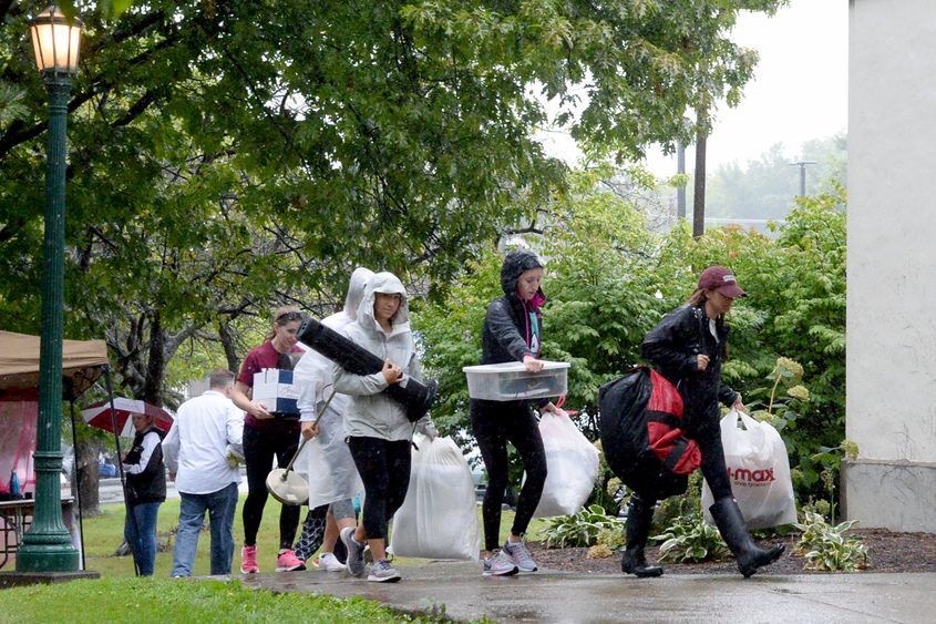 Sunday was move-in day at Union College.