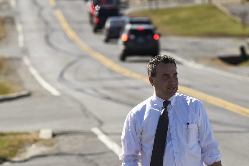 Glenville Town Supervisor Chris Koetzle on Glenridge Road in April 2015.