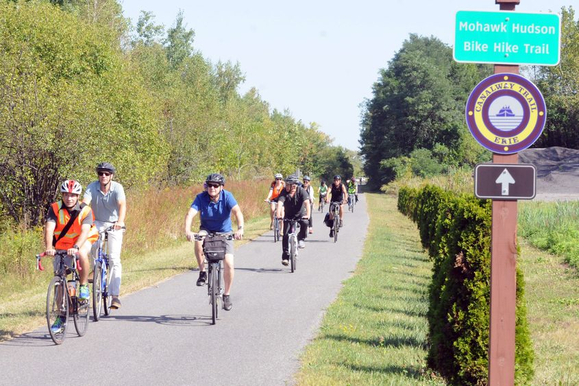 The Mohawk-Hudson trail would become part of the new system.