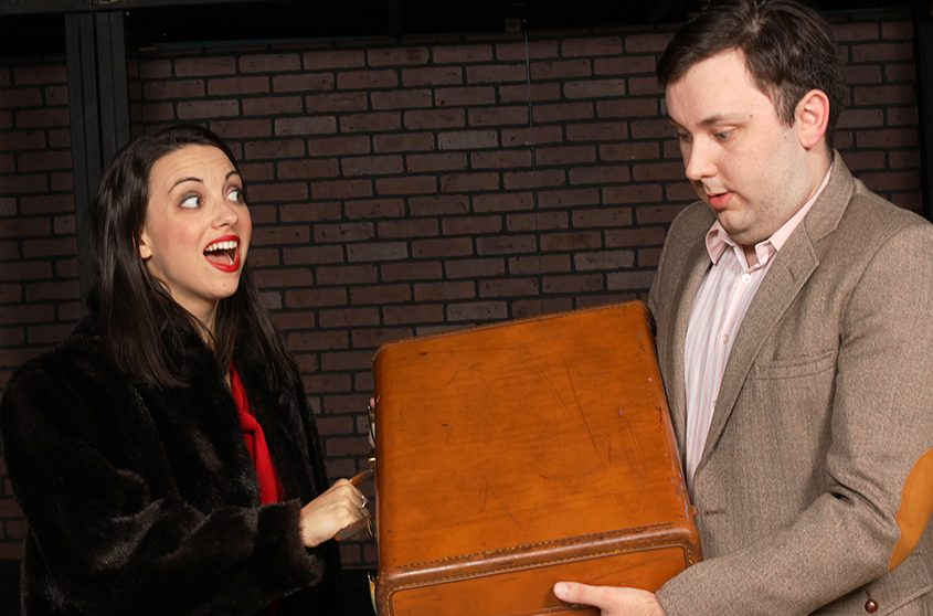 "Brittany Leigh is Sally and James Alexander is Cliff in SLOC's ""Cabaret."""