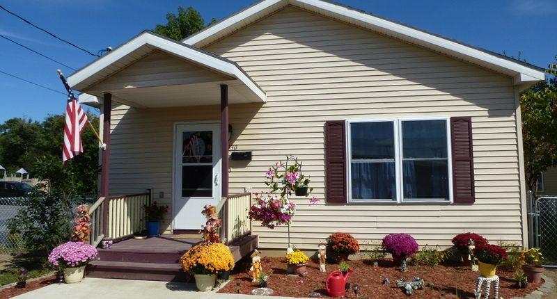 A home built through Habitat for Humanity's homeownership program