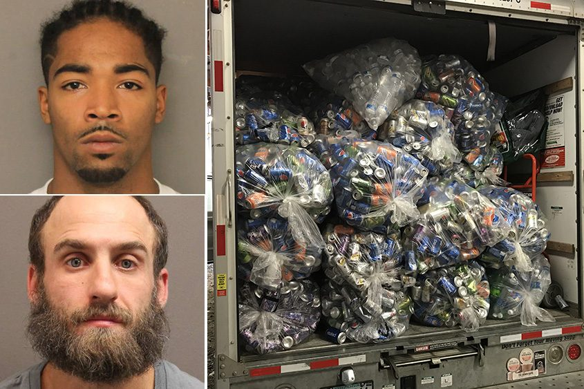 DC K. Dunkel (top) and Kenneth W.Spencer are accused of of breaking into the trailer at Tomra Recycling Center.