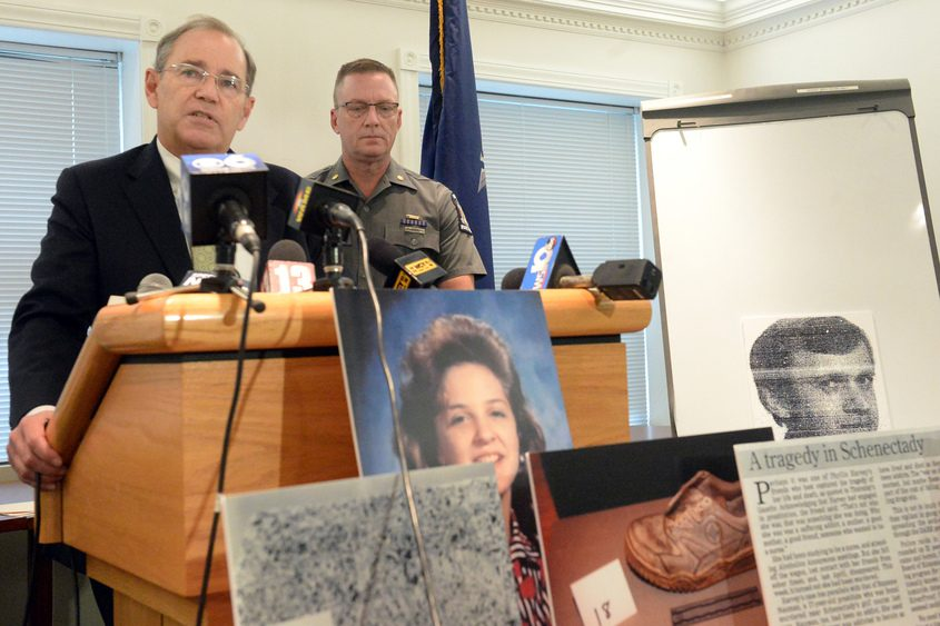 Schenectady County District Attorney Robert M. Carney talks about Suzanne Nauman's murder case Monday.