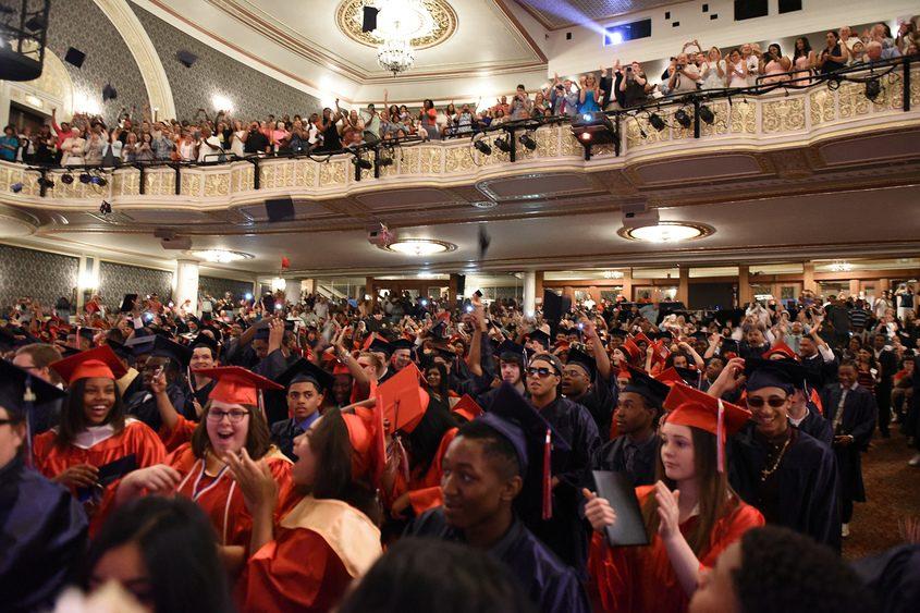 Schenectady High School graduates receive their diplomas in 2016.