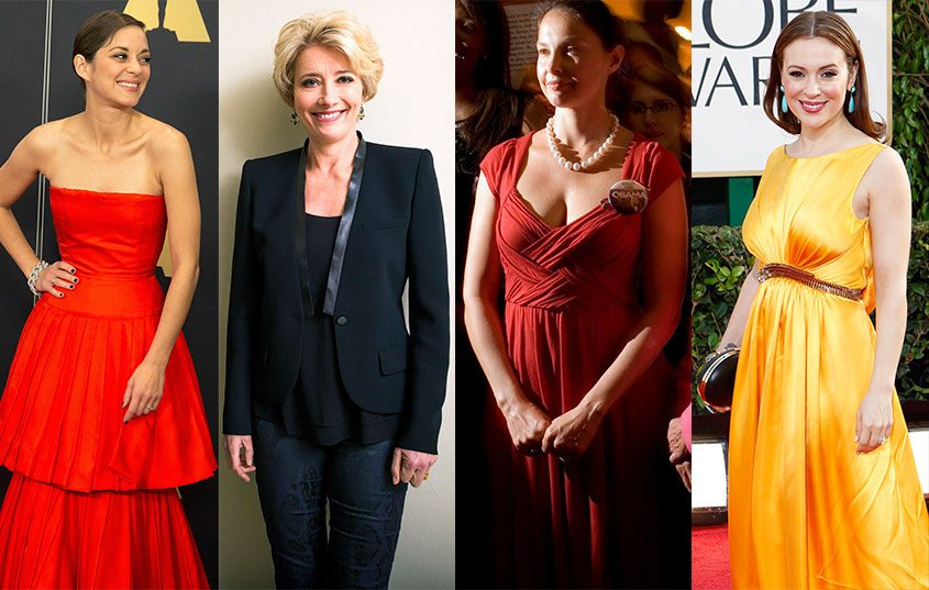 Actresses Marion Cotillard (from left), Emma Thompson, Ashley Judd and Alyssa Milano have spoken about #MeToo.