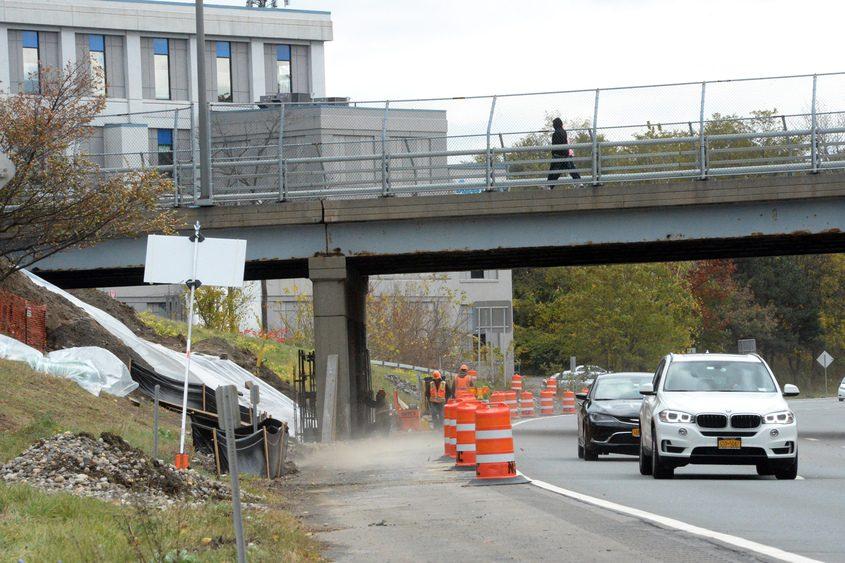 Construction has begun on the Michigan Avenue bridge over Interstate 890 in Schenectady.