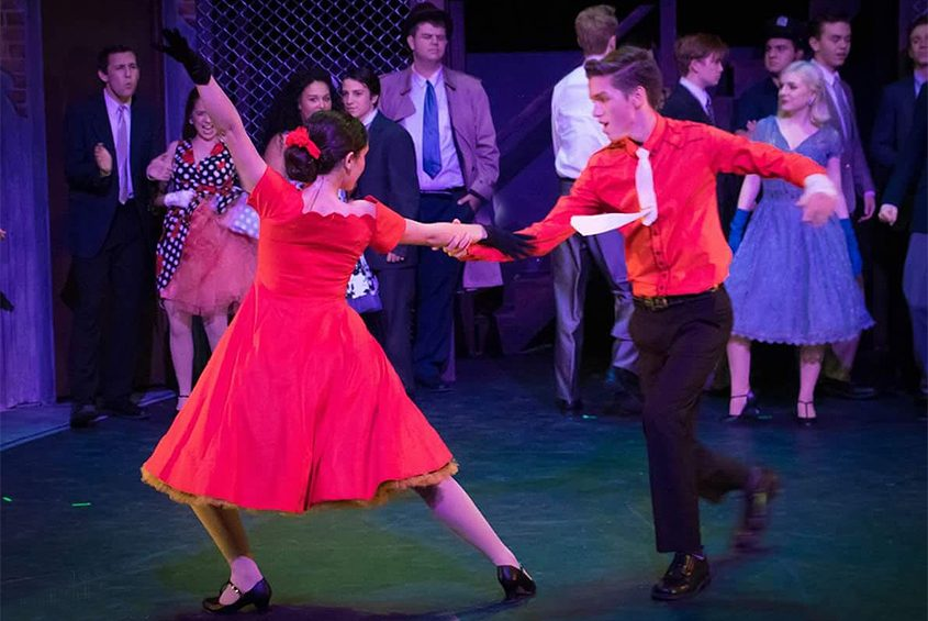 """Hannah Thompson plays Anita and Michael Burns is Bernardo in the Schenectady Light Opera production of """"West Side Story."""""""