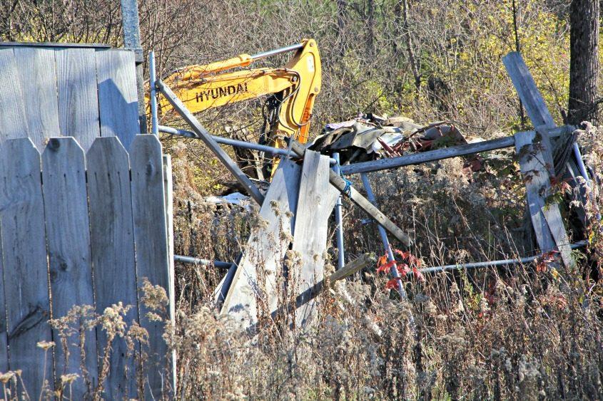Investigators began digging at the Northampton property Tuesday.