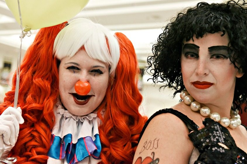Kristin Petrell (left) of Guilderland and Colleen Wendt of Glenville pose during the annual Saratoga Comic Con.