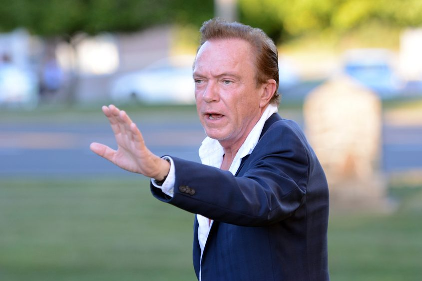 David Cassidy leaves Schodack Town Court in 2014.