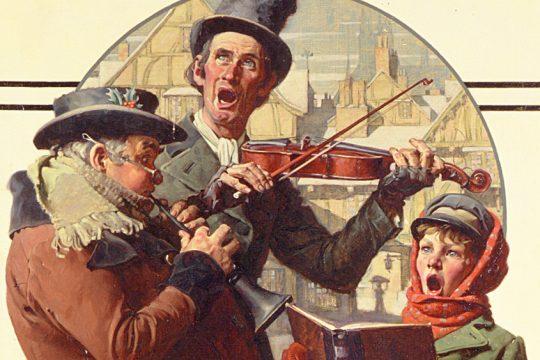Norman Rockwell (1894-1978), Christmas Trio, 1923.
