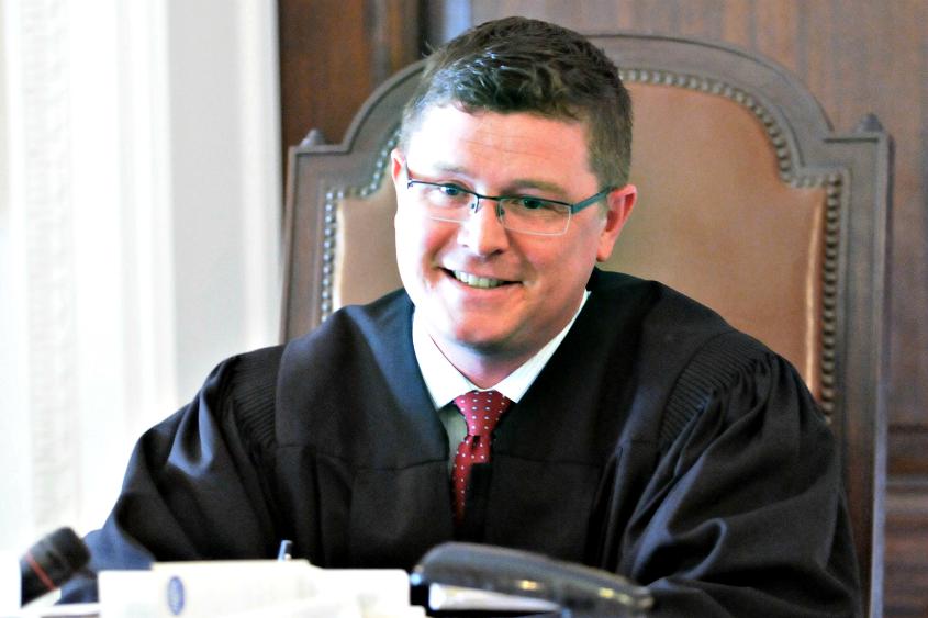 Judge Matthew Sypniewski presides over the Schenectady County Drug Court.