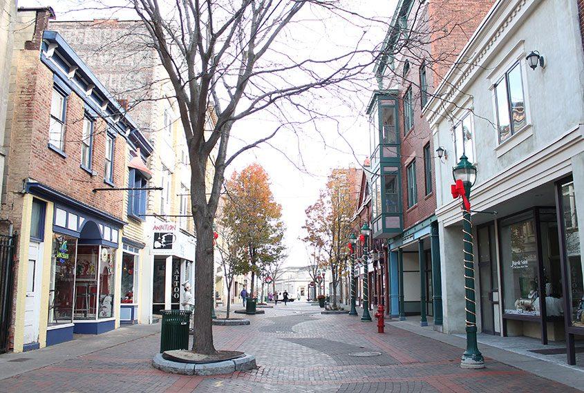 Jay Street in downtown Schenectady.
