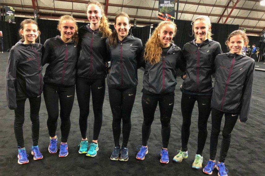 The Saratoga girls' team finished 14th at the Nike Cross Nationals in Oregon on Saturday.