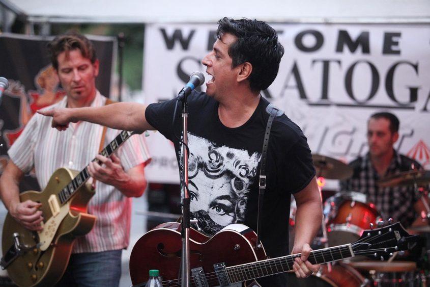 The El Dorados perform on Caroline Street during the Final Stretch Music Festival in 2013.