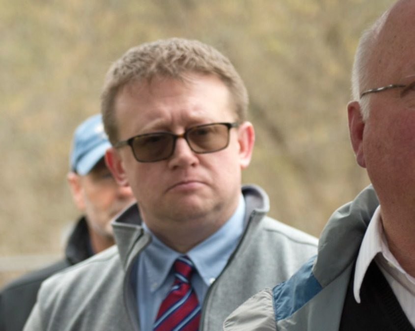 Gloversville Mayor Dayton King is seen April 25 at a press conference about a new dam built on the Cayadutta Creek.