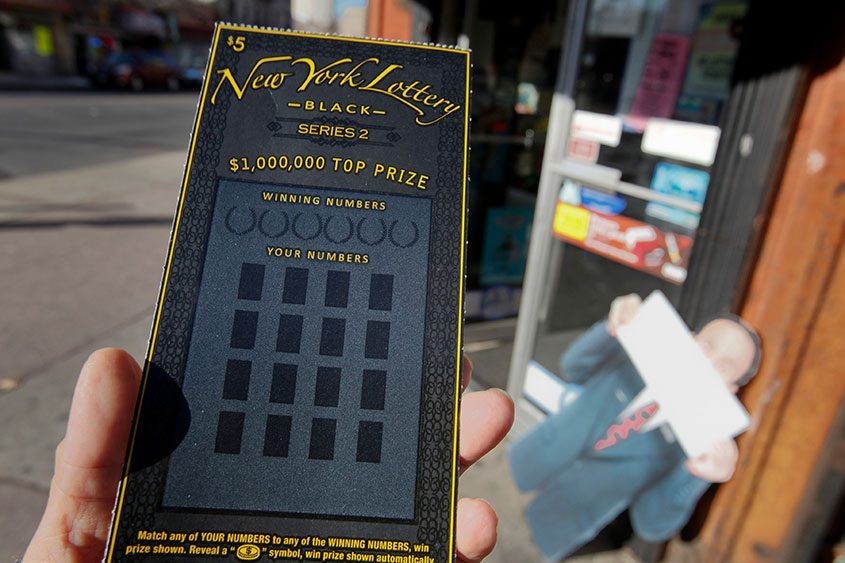 A lottery scratch-off ticket sold in New York, Dec. 21, 2010.
