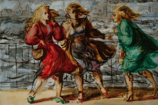 "Reginald Marsh's ""Windy Day."""