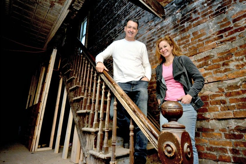 Rick Mangino and Bonnie Goodwin are teaming up to open Mangino's Gourmet Market on Eastern Avenue in Schenectady.