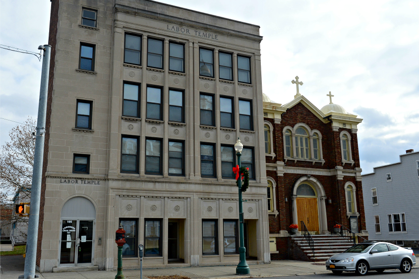 The Labor Temple at 105 Clinton St. in Schenectady.