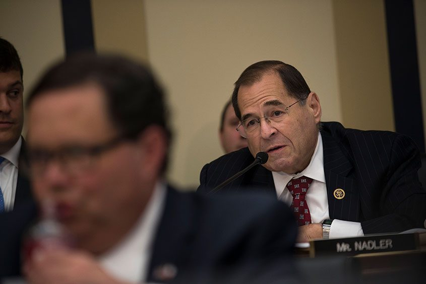 Rep. Jerrold Nadler (D-N.Y.) during a House Judiciary Committee hearing on Capitol Hill in Washington, Sept. 21, 2016.