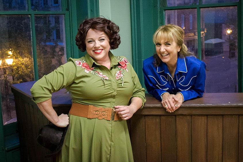"Molly McGrath (left) and Benita Zahn in Park Playhouse's ""Always ... Pasty Cline."""