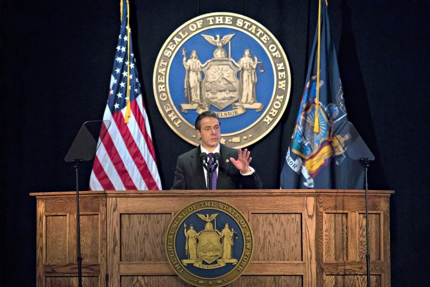 Gov. Andrew Cuomo delivers his State of the State address Wednesday in Albany.