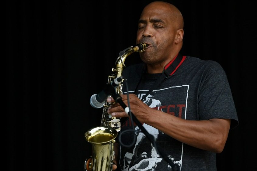 Fred Tanner of Schenectady performs at Music Haven as part of the Hamilton Hill Arts Center's Juneteenth Festival last year.