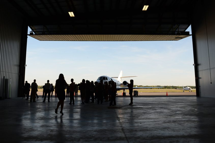 Richmor Aviation opens a new hangar in September 2015 at Schenectady County Airport.