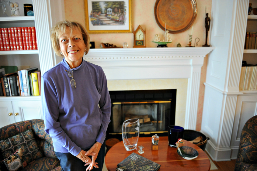 Esther Swanker is pictured at her home in Niskayuna in 2013.