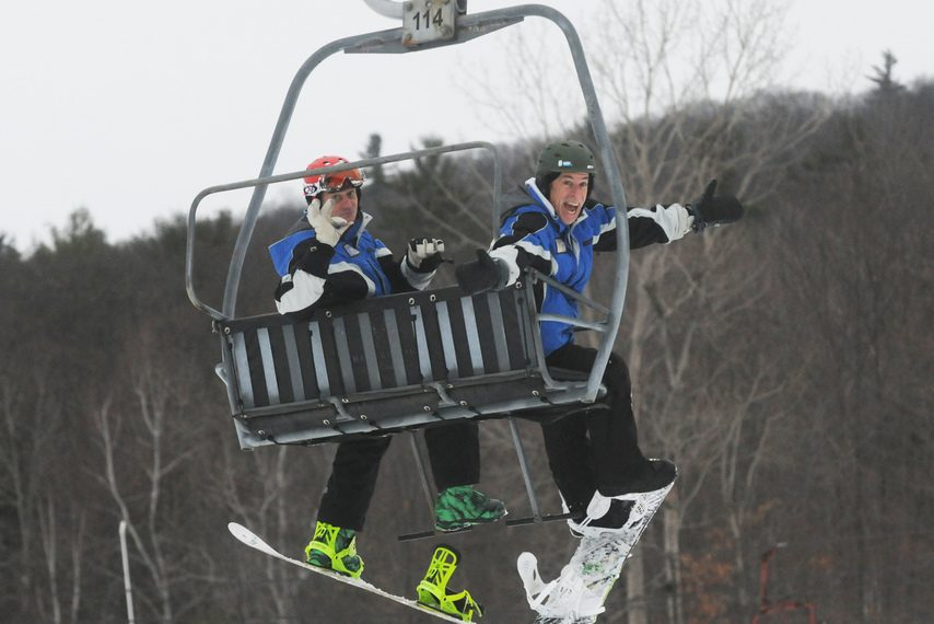 There are a lot of local options for getting out on the slopes and learning how to ski and/or snowboard.