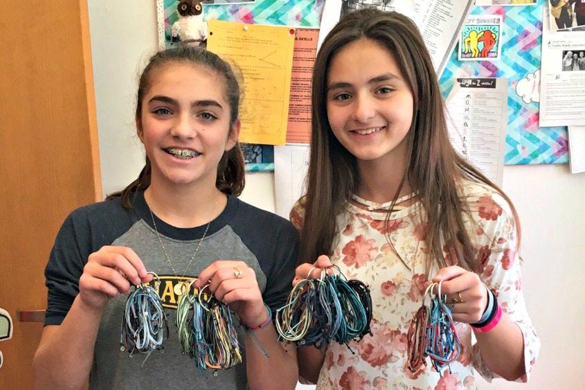 Chloe Lephart, 13, and Jenna Semione, 13.