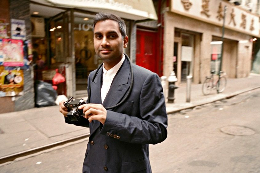 Aziz Ansari walks through Chinatown in Manhattan on May 10, 2017.