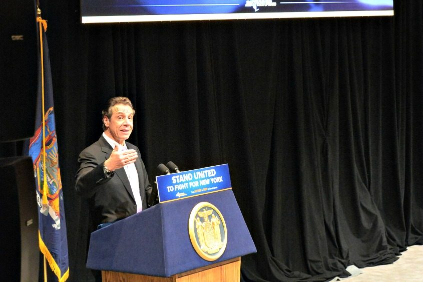 Gov. Andrew M. Cuomo gives his 2018-19 budget address Tuesday in Albany.