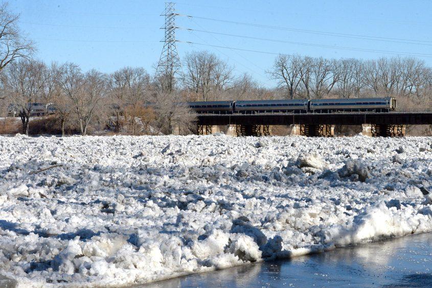 An Ice jam on the Mohawk River along Riverside Park last Sunday.
