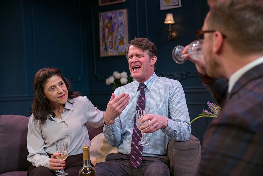 """Kelly Wolf is Deborah and Marcel Jeannin plays Charlie in Capital Rep's production of """"Paris Time."""""""