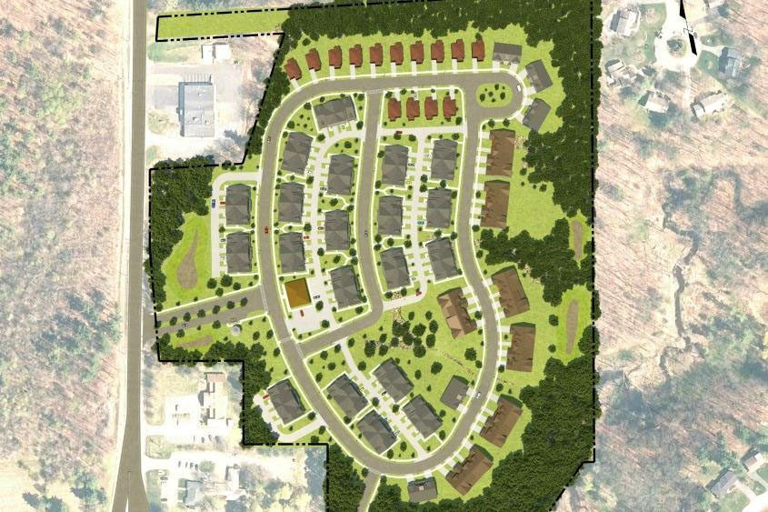 A concept plan rendering provided by the Clifton Park Planning Board.