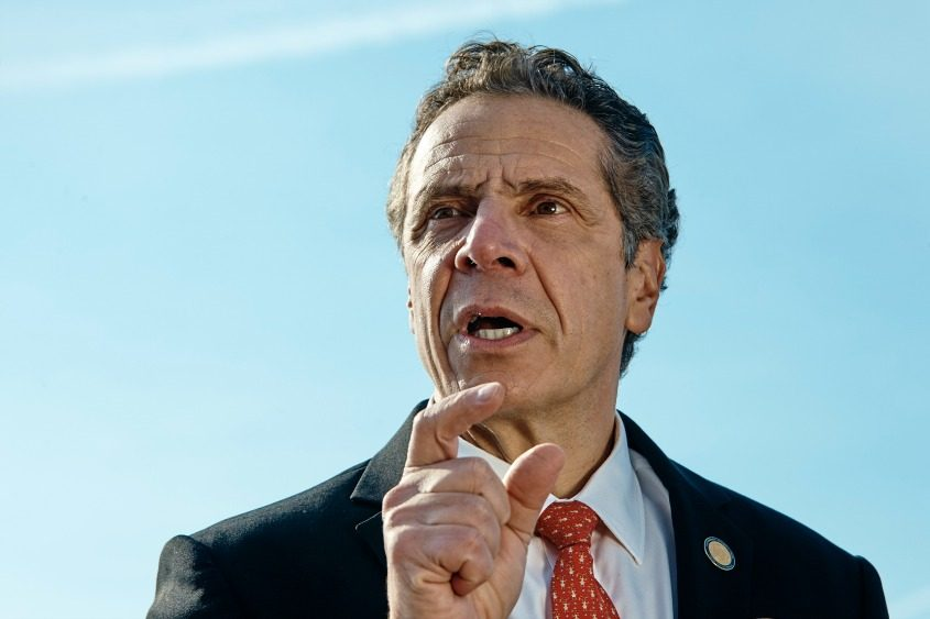 Gov. Andrew Cuomo speaks during a news conference in New York on Jan. 21, 2018.