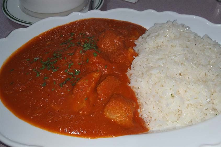 The butter chicken entree is one of the favorites among diners at Good Eats in Ballston Spa.