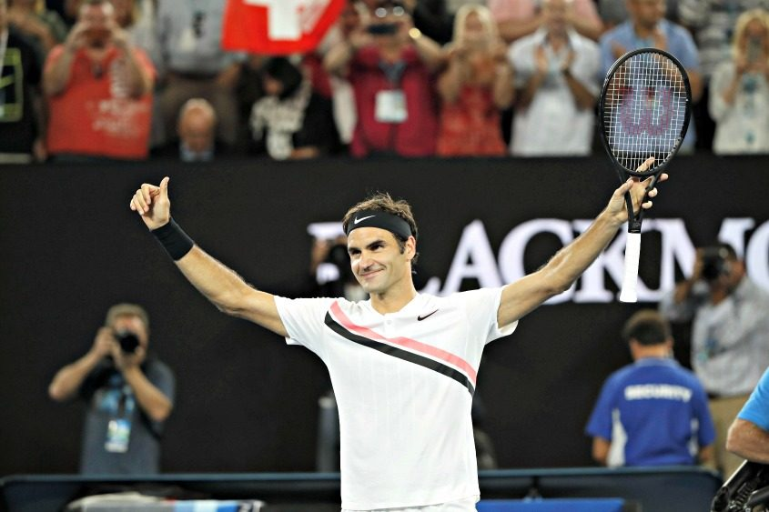 Roger Federer during his match against Tomas Berdych last week.