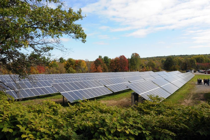 A county solar farm on Hetcheltown Road in Glenville in October 2015.
