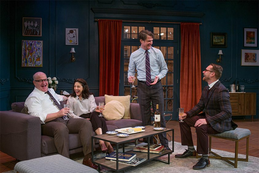 """Paris Time"" features, from left, Wally Dunn (Martin), Kelly Wolf (Deborah), Marcel Jeannin (Charlie). Tom Templeton (Philip)."