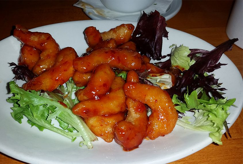 Firecracker Shrimp at Andy's Adirondack Grille in Malta.