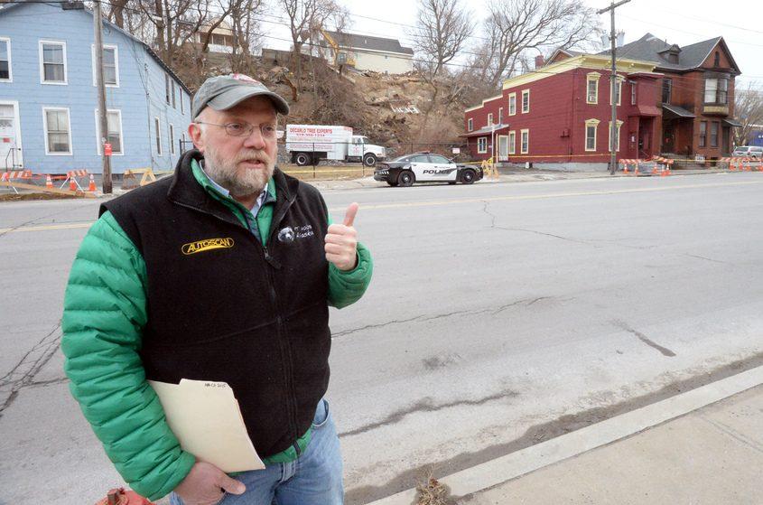 John Garver, a geology professor at Union College, talks about mudslides in Schenectady.