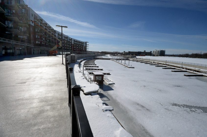 Mohawk Harbor, seen Tuesday, has been widely cited as a key part of Schenectady's revitalization efforts.