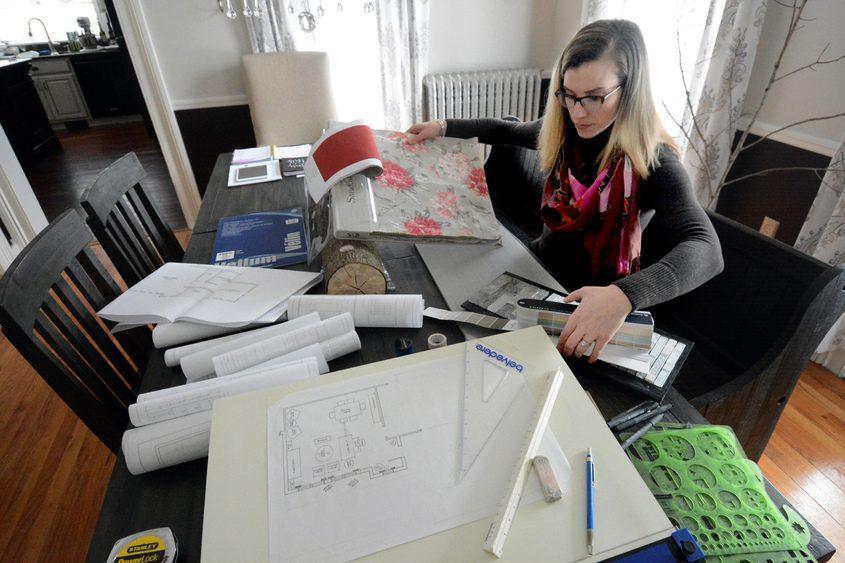 Julie Maleski Putzel in her Clifton Park office.