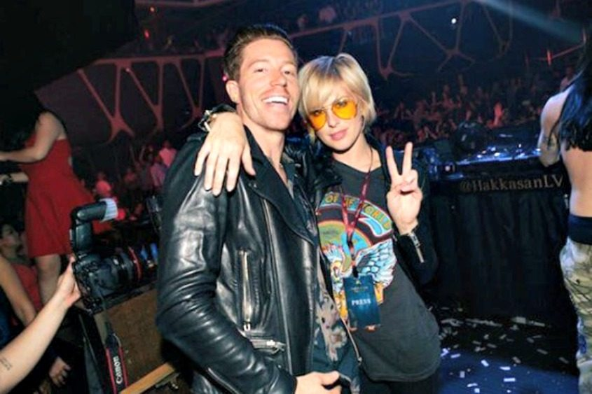 Snowboarder Shaun White and Phantogram lead singer Sarah Barthel.