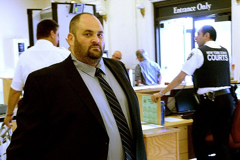 Jason Sacks in court for a hearing in August 2017.