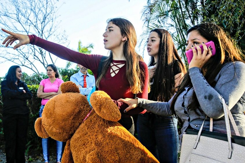 Nicole (from left), Dalilia and Anna search for their parents after the mass shooting.