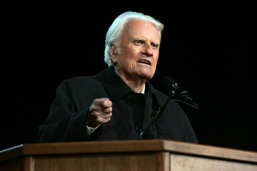 The Rev. Billy Graham speaks in Pasadena, Calif., on Nov. 18, 2004.